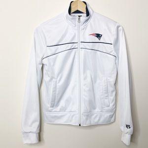 New England Patriots White Zip Up Jacket